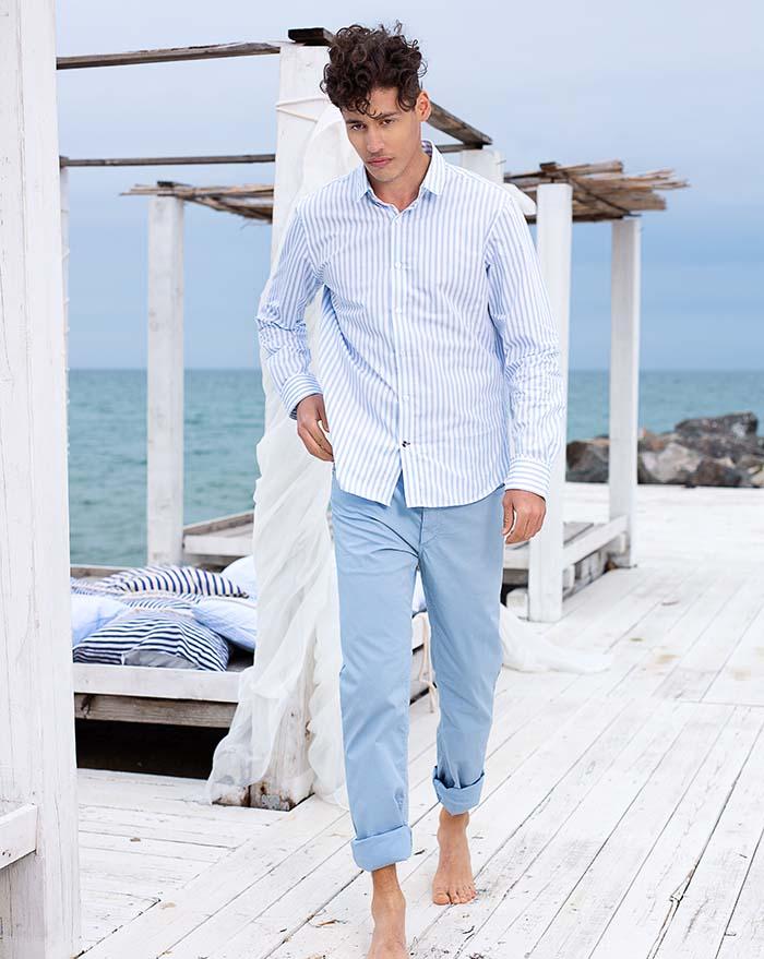 Azur Shirt White Blue