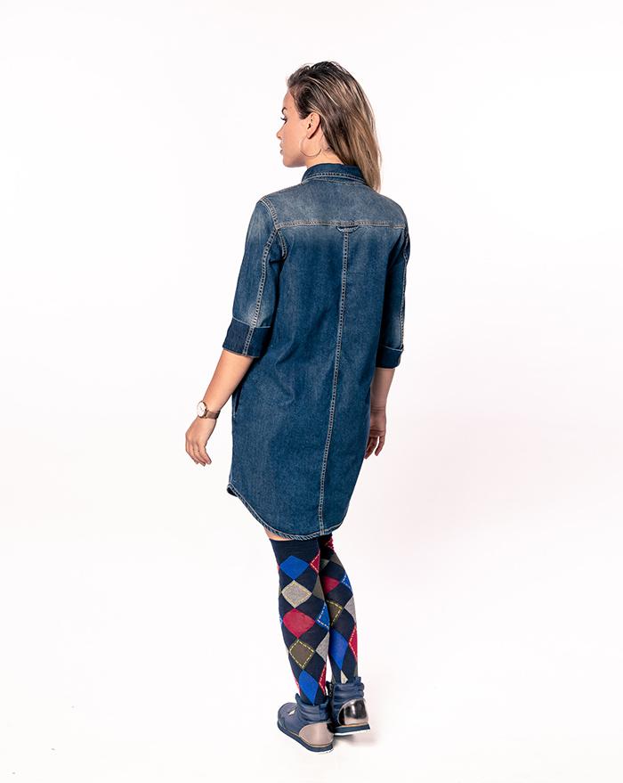 Safari Denim Dress