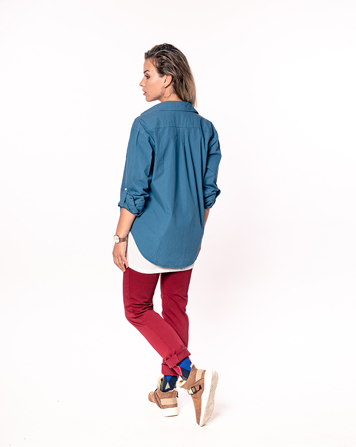 Boyfriend shirt - dark blue