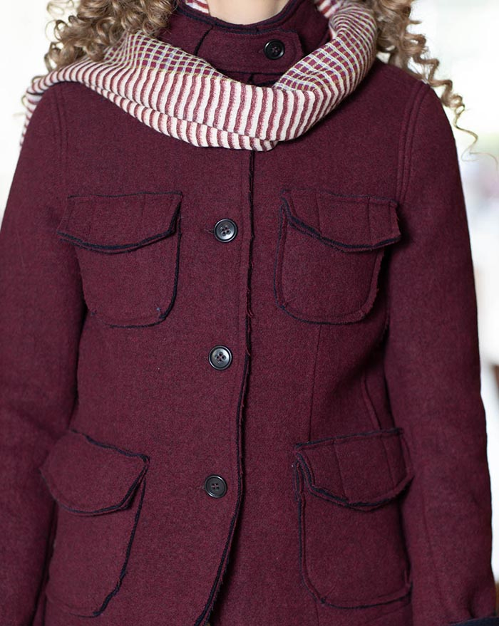 Amalia Bordeaux Wool