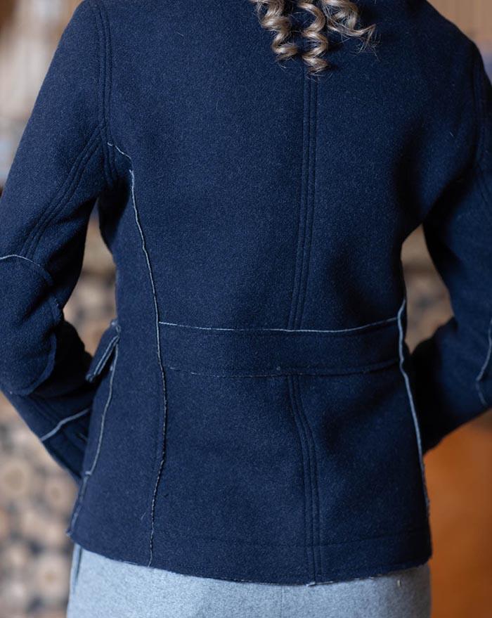 Amalia Dark Blue Wool