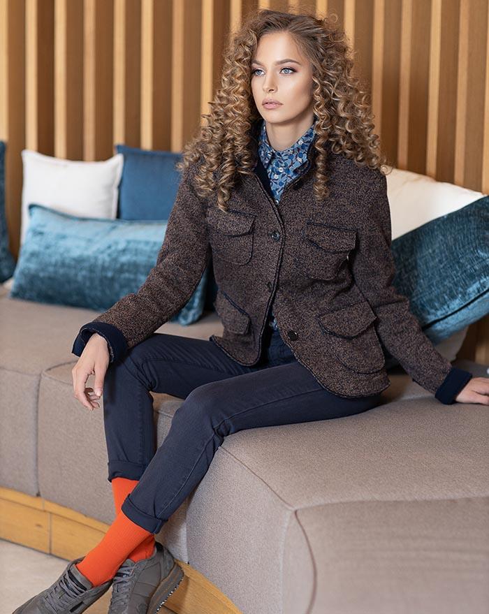 Amalia Brown Wool