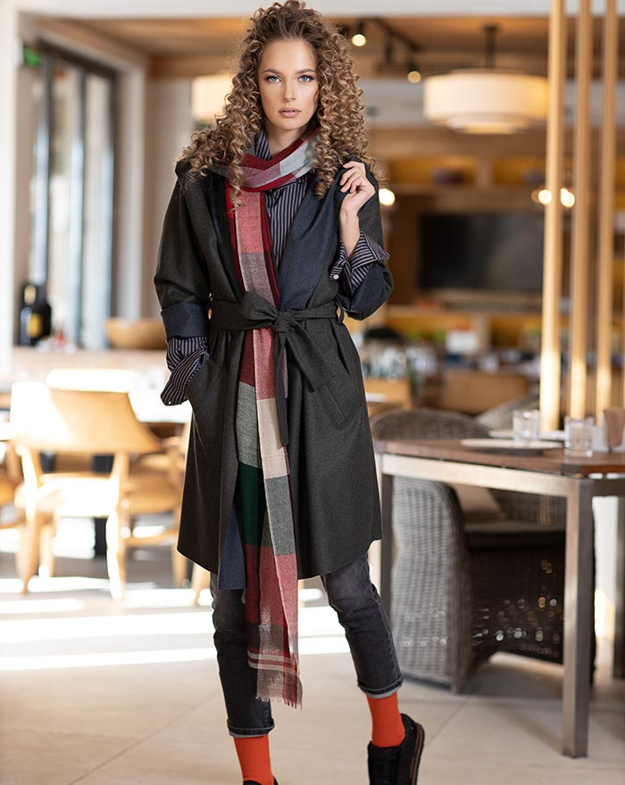Wooly two faces coat