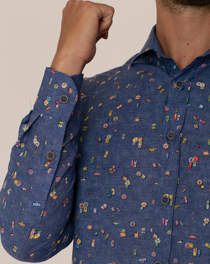 Fidji Floral Denim Shirt