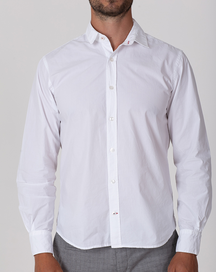 Azur Popline White Shirt