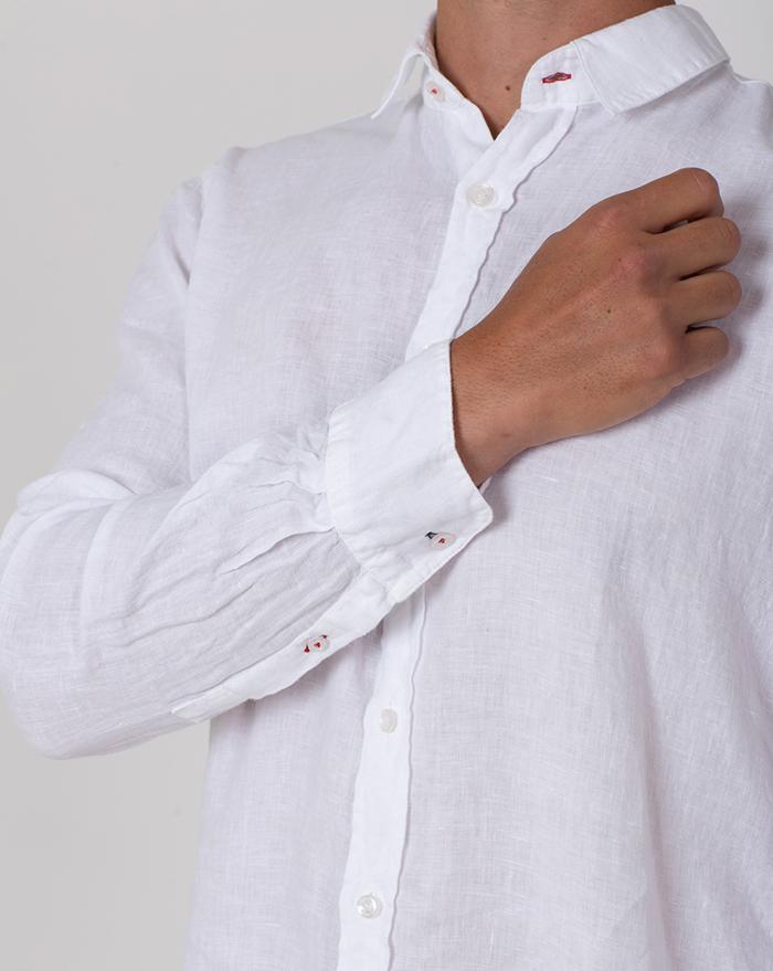 Azur Linen White Shirt