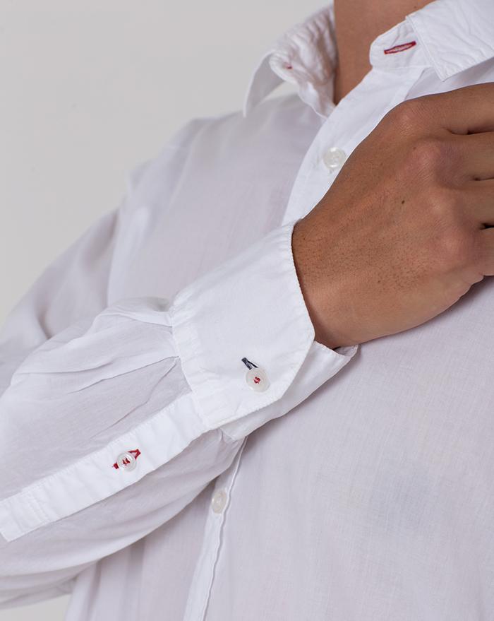 Azur Cotton Musula White Shirt