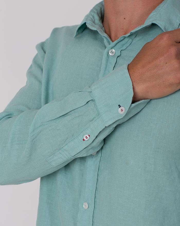 Azur Linen Aqua Shirt