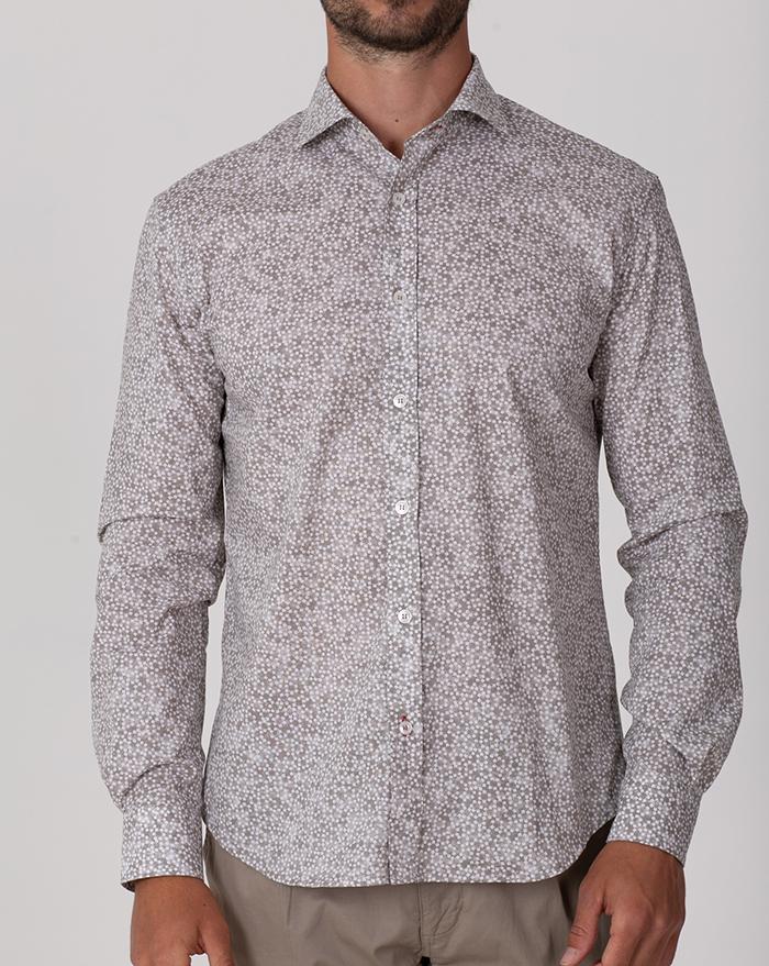 Fidji Floral Brown Shirt