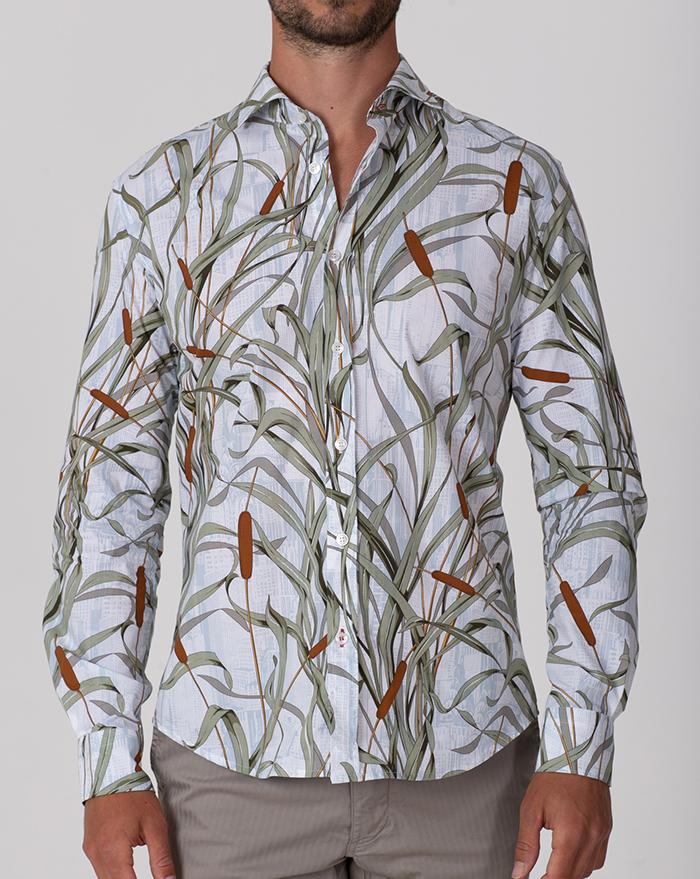 Fidji Floral Green Shirt