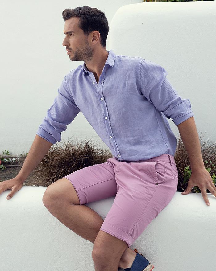 Azur Linen Lilac Shirt
