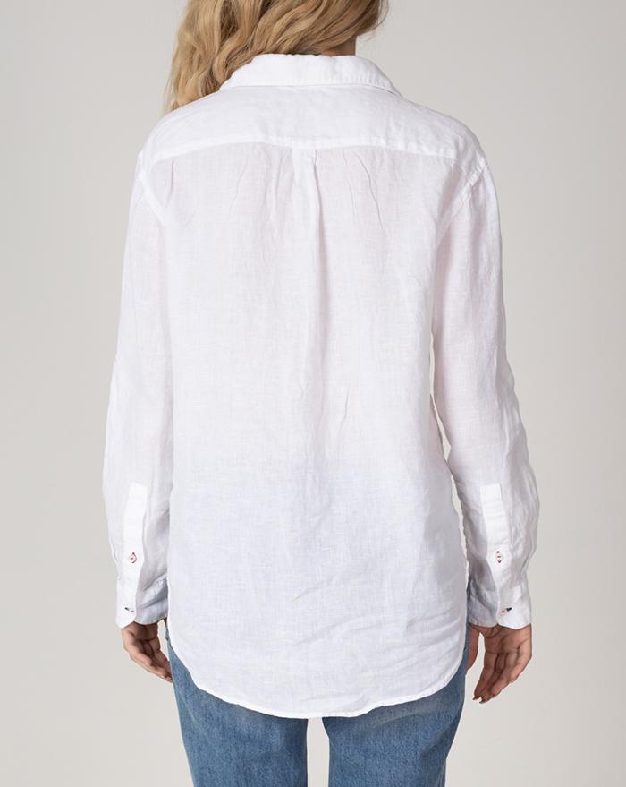 Boyfriend White Linen Shirt
