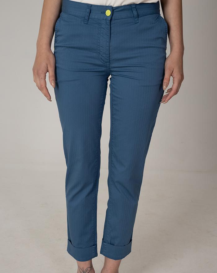 Capri Dark Blue Stripe  Trousers