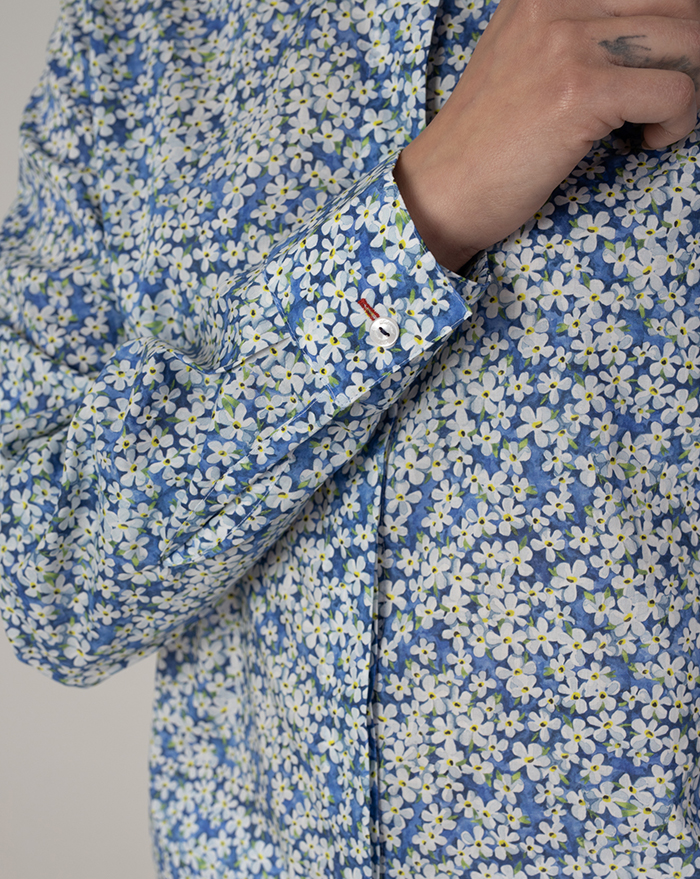 Sardi Floral Blue Shirt by Liberty London