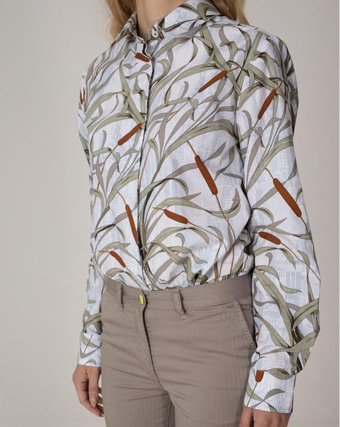Sardi Floral Green Shirt
